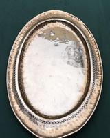 Arts & Crafts Oval Planished Copper Tray (2 of 4)