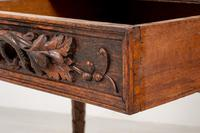 Victorian Carved Oak Writing Table (6 of 8)