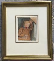 William Henry Hunt Watercolour - Portrait of Farmers Boy (2 of 2)