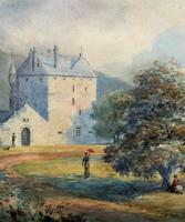 Fine 19th Century Regency Gilt Show-Framed Castle Landscape Watercolour Painting (9 of 14)