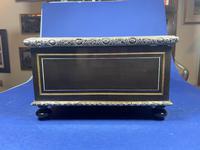 19th Century French  Ebonised Fruitwood Jewellery Box (18 of 18)