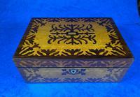 William IV Burr Maple & Rosewood Jewellery Box (8 of 12)