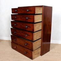 Cuban Mahogany Chest of Drawers 19th Century Tallboy (3 of 12)