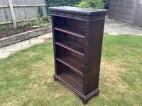 Carved Oak Open Bookcase (2 of 4)
