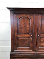 Large Antique 18th Century Welsh Oak Press Cupboard (M-808) (5 of 18)