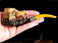 Antique Victorian Meerschaum Pipe, Horse, Man and His Dog (15 of 15)