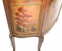 French Display Cabinet Vernis Martin Painted Bijouterie c.1900 (8 of 16)