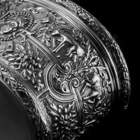 Rare Antique Solid Silver Cellini Tea Caddy Box - Mappin & Webb 1902 (20 of 28)