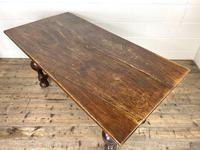 Antique Country Oak Dining Table (7 of 10)