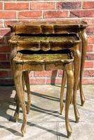 Vintage Italian Florentine Nest of 3 Tables