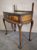Mahogany Chippendale Style Table with Glass Gallery (3 of 10)