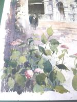 Massive Modern British Watercolour- Fred Marshally ? London Street Scene (4 of 7)