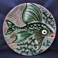 Spanish Art Pottery Fish Plate, Puigdemont Catalonia c.1950 (4 of 5)