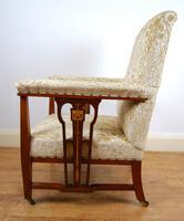 Edwardian Art Nouveau Inlaid Armchair (4 of 8)