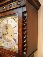 Small Oak Westminster Chime Longcase Clock (4 of 10)