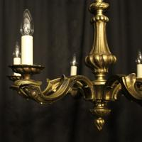 French Bronze 6 Light Antique Chandelier (10 of 10)