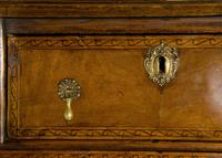 Queen Anne Oak & Walnut Chest of Drawers with running scroll (3 of 8)