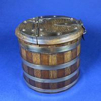 Victorian Coopered Oak & Mahogany Box (15 of 16)