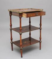 19th Century Mahogany & Inlaid Three Tier Etagere Table (6 of 11)