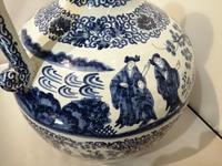 19th Century Blue & White Dutch Delft Flagon / Ewer (12 of 14)