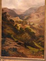 Oil Painting 'The Lledr Valley' by Frank T. Carter (9 of 9)