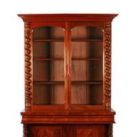 Fine Victorian Mahogany Cabinet Bookcase (3 of 8)