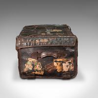 Vintage Overseas Voyage Trunk, English, Leather, Travel Case, Luggage c.1930 (5 of 12)