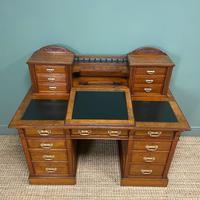 High Quality Maple & Co Antique Victorian Pedestal Desk (10 of 11)