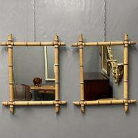 Pair of French Faux Bamboo Mirrors (6 of 6)