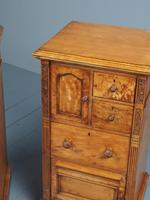Antique Pair of Satinwood Bedside Cabinets by M. Woodburn (8 of 13)
