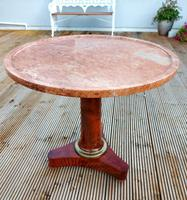 19th Century French Marble Top Table