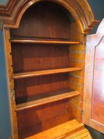 Small Antique Burr Walnut Bureau Bookcase (8 of 12)