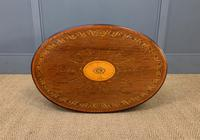Fine Quality Oval Inlaid Mahogany Occasional Table (14 of 16)