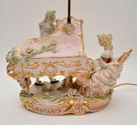 Antique Italian Capodimonte Porcelain Table Lamp (11 of 11)