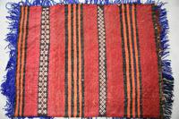 Afghan Red Saddle Bag Cushion Cover (7 of 9)