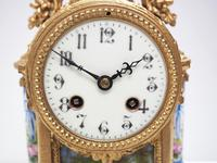 Wow! French Blue Sevres Mantel Clock 8 Day Striking Mantle Clock (9 of 12)