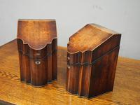 Pair of George III Inlaid Mahogany Cutlery Boxes (7 of 9)