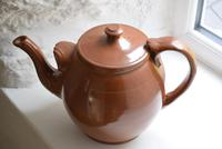 Large Late 19th Century Stoneware Teapot (3 of 9)