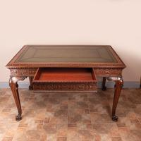 Superb Quality Mahogany Chippendale Design Writing Table (3 of 23)