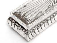 Victorian Silver Trinket Box with Gadroon Style Chased Body and Internal Gilding (5 of 8)