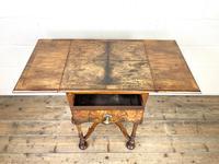 19th Century Walnut Drop Leaf Side Table (10 of 11)