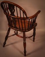 Ash & Elm Windsor Chair Stamped F Walker Rockley (4 of 10)