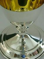 Rare Large English Solid Sterling Silver Travelling Goblet Chalice 1949 (8 of 12)