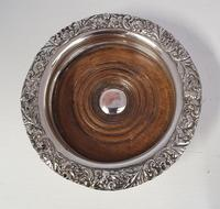 Pair of Victorian Silver Plated Coasters (4 of 5)