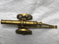Small Antique French Victorian 19th Century Brass Cannon Ornament (16 of 18)