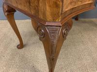 Good Queen Anne Style Burr Walnut Writing Desk (18 of 18)