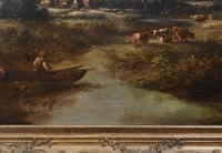 Victorian Oil Painting English Norfolk Landscape Rustic c.1860 Arcadia (16 of 17)