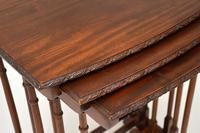 Antique Edwardian Mahogany Nest of  Tables (8 of 11)