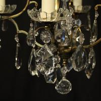 French Gilded 4 Light Cage Antique Chandelier (3 of 10)