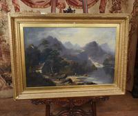 American Landscape Oil Painting by Earnest T Fredericks Yosemite